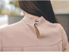 Round Neck Long Sleeve Office Blouse Shirt in Blouses & Shirts Free worldwide shipping! Office Blouse, Chiffon Shirt, Cropped Pants, Business Women, Shirt Blouses, Work Wear, Womens Fashion, Long Sleeve, Sleeves