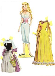 "Princess Aurora  1969. WHITMAN #1984:69, Walt Disney Presents ""Sleeping Beauty"", paper dolls and costumes."