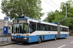 Mercedes Benz O405GTZ trolleybus in Zürich