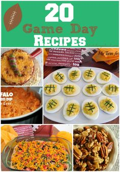 20 Game Day Recipes | Pizza Puffs, Buffalo Ranch Chicken Dip, Honey Roasted Nuts, Cheesy Super Bowl Dip + More Football Game Day Food Party Food Appetizers