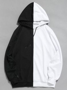 hoodie fashion Sweatshirts 2018 Men Women Long Sleeve Patchwork hooded Hip-hop Hoodie Basicdresslliy - Sweat Shirt - Ideas of Sweat Shirt - Outfits Casual, Teen Fashion Outfits, Cool Outfits, Style Fashion, Men Casual, Emo Fashion, Trendy Fashion, Tomboy Outfits, Latex Fashion