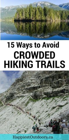 Seeking solitude in nature? Here are 15 ways to avoid crowded hiking trails. You don't have to hike with the crowds if you don't want to. These tips will help you avoid crowds when hiking. Backpacking Tips, Hiking Tips, Hiking Gear, Camping Hacks, Camping Gear, Camping Packing, Get Outdoors, The Great Outdoors, Hiking Essentials