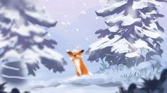 """Winter will be over soon."" - Concept art de Seasons after Fall, próximo jogo da desenvolvedora Swing Submarine."