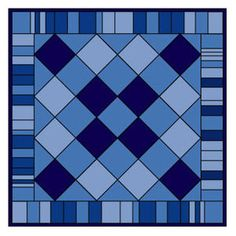 Tips You Can Use to Make Denim Quilts: Put plain blocks of different colors on point and surround them with a pieced border made from random bars.