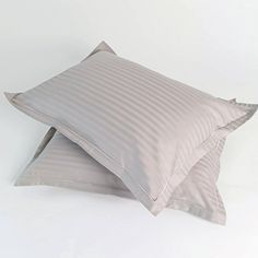 300 TC Cotton Color Dorm Bonus Shams  1 CM Damask Stripe  Perfect For College and College Decor  Available in Orchid Pink Steel Gray  TanGold Steel Gray * You can find out more details at the link of the image from Amazon.com