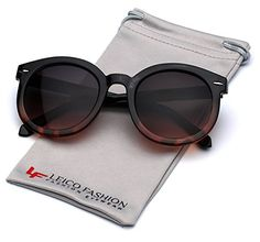 6c1e0225d88 Vintage Retro 80s Round Frame Womens Fashion Sunglasses -- Click on the  image for additional
