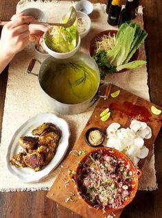 Green Curry, Crispy Chicken, Kimchee Slaw & Rice Noodles - Jamie Oliver