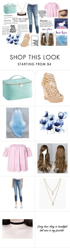 """""""Pastel Love"""" by flyingunikittys-poopattack on Polyvore featuring PBteen, Christian Louboutin, Milly, J Brand and LOFT"""