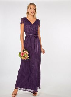 451faa18d8f   Showcase Purple Lace Maxi Dress