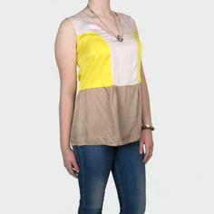 Colourblock Top #topfashion #reedkhloe55 #ColourblockTop #colourblock www.2dayslook.com