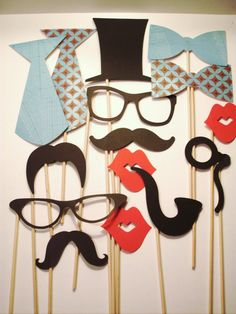 Photobooth Props - Set of 15 on ETSY