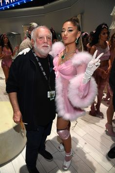 Grammy producer, Ken Ehrlich and Ariana Grande attend the Annual GRAMMY Awards at STAPLES Center on January 2020 in Los Angeles, California. Get premium, high resolution news photos at Getty Images Ariana Grande Drawings, Ariana Grande Wallpaper, Ariana Grande Pictures, Ariana Grande Grammys, Ariana Tour, Dangerous Woman, Celebs, Celebrities, Billie Eilish