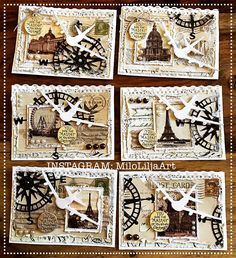 See all my ATC cards at the tag: { { Art Journal Pages, Journal Cards, Junk Journal, Atc Cards, Card Tags, Art Trading Cards, Nautical Cards, Handmade Tags, Pocket Letters