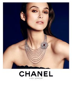 """""""Keira Knightley for Chanel's High Jewelry """" Keira Knightley Chanel, Keira Christina Knightley, Celebrity Advertising, Fashion Advertising, Jewellery Advertising, Real Diamond Necklace, Chanel Jewelry, Rare Gems, High Jewelry"""