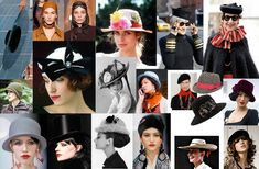 HATS: Hats should be small and sharp; sculpted and irregular geometric shapes or asymmetric. Keep the shape of ethnic hats excellent (berets, caps of Nehru South Asian, Spanish, hats, etc.) Avoid: delicate, intricate belts. Corsets. Quiet narrow belts.