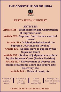 Revise important Articles from the that were in the NEWS and therefore very important for General Knowledge Book, Gernal Knowledge, Knowledge Quotes, Effective Study Tips, Education Quotes, Learning Quotes, Government Lessons, Ias Study Material, Indian Constitution