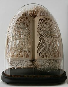 Sculpture Books by Georgia Russell  book lungs?