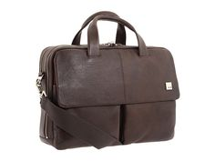 KNOMO London Warwick Double Compartment Laptop Briefcase Black - Zappos.com Free Shipping BOTH Ways