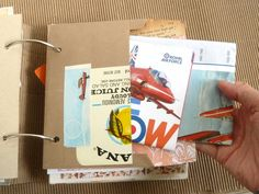 notes on paper: Filling a Junk Journal: My 'Summertime 2014' album *Part 5*. Ways to store ephemera in your album