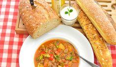szejtángulyás Beef Goulash Soup, Seitan, Soups And Stews, Tofu, Good Food, Veggies, Vegetarian, Ethnic Recipes, Food Blogs