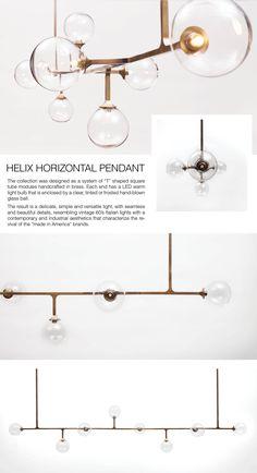 HELIX Horizontal Pendant Light by LUMIFER | Javier Alan Robles