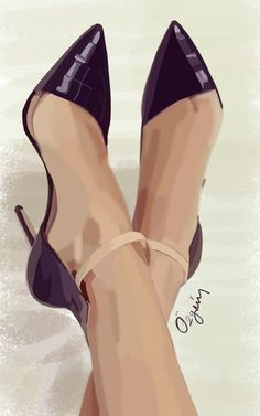 #draw #drawing #shoes #highheels #darkpurple #shiny #stiletto #samsungsnote