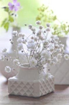Small Square Milk Glass Vase
