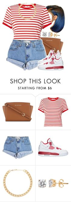 """Untitled #1573"" by lulu-foreva ❤ liked on Polyvore featuring MICHAEL Michael Kors, Miss Selfridge, Levi's and Forever 21"