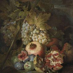 Stilleven met vruchten, Abraham Brueghel, 1670 - Rijksmuseum