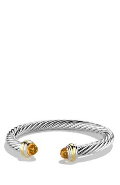 David Yurman 'Cable Classics' Bracelet with Semiprecious Stones in citrine | Nordstrom