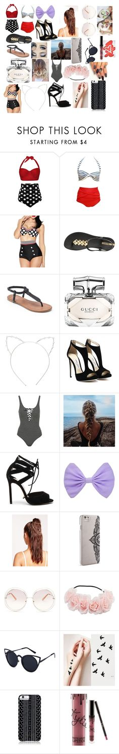 """Pool Party"" by fashionista0333 ❤ liked on Polyvore featuring IPANEMA, Apt. 9, Gucci, Cara, Topshop, Tony Bianco, Missguided, Nanette Lepore, Chloé and Savannah Hayes"