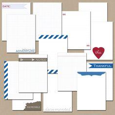 Printable Journaling Cards - Journal Builders. $3.00, via Etsy.
