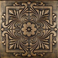 """Victorian - Styrofoam Ceiling Tile - 20""""x20"""" - #R 14 - More colors available at http://www.decorativeceilingtiles.net/r-14-styrofoam-victorian-ceiling-tile/"""