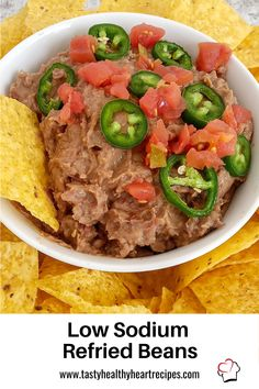 A simple low sodium side dish for Taco Tuesday or any Tex-Mex meal, my EASY Instant Pot Low Sodium Refried Beans is perfect. Low Sodium Snacks, Low Sodium Diet, Low Sodium Recipes, Taco Side Dishes, Side Dishes Easy, Low Sodium Waffle Recipe, Heart Healthy Recipes, Healthy Heart, Waffle Recipes