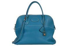 Hermès  35cm Blue Jean Bolide Bag