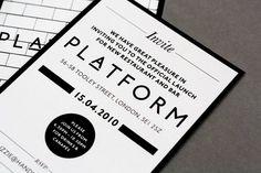 Platform - Launch party invite