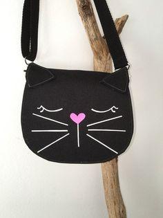 Kindergartentaschen - Katzentasche  - ein Designerstück von KleineLieblingsteile bei DaWanda