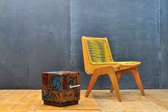 Vintage Typographic Sculpture Table : 20th Century Vintage Industrial : Modern Fifty