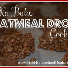 No Bake Oatmeal Drop Cookies  Yum! (HEAPING 1/2  cup of peanut butter, 2 1/2 cups oatmeal instead of 3)