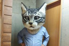 The Super Realistic Giant Cat Head You've Always Wanted