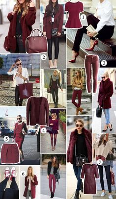 Womens Style Discover Monday Moodboard: Bordeaux The World Holiday Outfits Women Casual Fall Outfits Fall Winter Outfits Cute Outfits Purple Pants Outfit Burgundy Outfit Burgundy Pants Outfit Colour Combinations Fashion Color Combinations For Clothes Holiday Outfits Women, Casual Fall Outfits, Fall Winter Outfits, Cute Outfits, Colour Combinations Fashion, Color Combinations For Clothes, Look Fashion, Autumn Fashion, Fashion Outfits