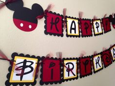 Mickey Mouse Birthday Party Mickey Mouse by LisasPartyShoppe