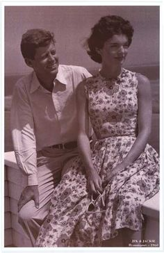 John F Kennedy and Jackie Kennedy Hyannisport 1960 JFK Poster 11x17