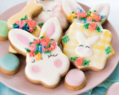 Flower Crown Easter Bunny Cookies | Follow the Ruels