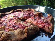 Rebarborovo-jahodová chrumkavá galette - Zdravé pečenie