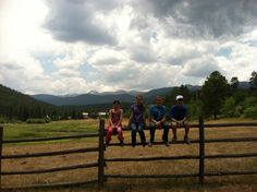 Cuchara, Colorado is the best place to be a kid on a fence!