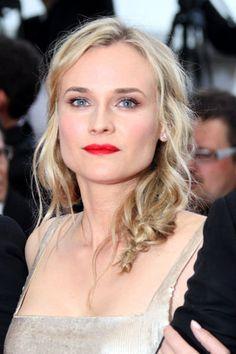 Diane Kruger - neutral eye makeup, red lips