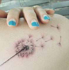 amazing dandelion tattoo #Ink #youqueen #girly #tattoos #dandelion
