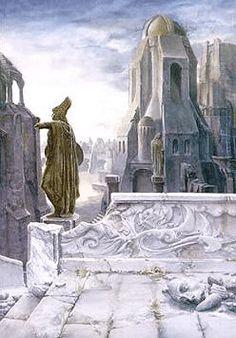 """""""Osgiliath"""" by Alan Lee"""