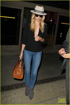 Rosie Whiteley arriving at the LAX Airport.